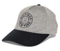 Cap, grau meliert/navy