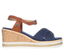 Wedges blau/braun