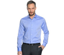 Business Hemd Custom Fit blau