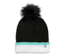 Mütze schwarz/weiß/mint