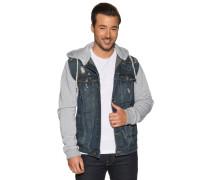 Jeans Jacke blau/grau meliert