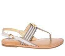 Zehentrenner taupe/offwhite