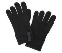 Handschuhe mit Kaschmiranteil schwarz