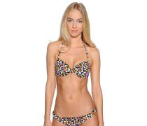 Bikinioberteil schwarz/mehrfarbig