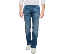 Jeans 3301 Straight Fit blau