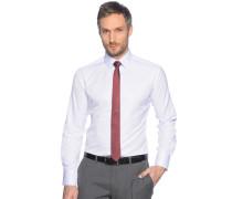 Hemd Slim Fit + Krawatte weiß/rot