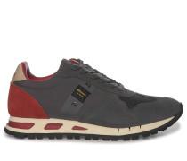 Sneaker grau/rot