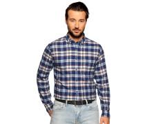 Langarm Hemd Regular Fit blau/weiß/rot kariert
