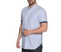 Kurzarmhemd blau/weiß