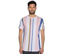 Kurzarm T-Shirt rosa/weiß