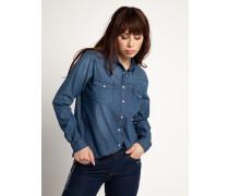 Langarm Bluse blau