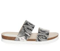 Sandalen grau/weiß
