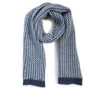 Schal blau meliert