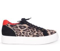 Sneaker schwarz/beige