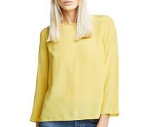 Langarm Blusenshirt gelb