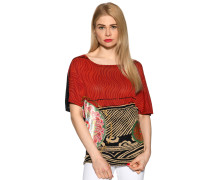 Kurzarm T-Shirt rot/mehrfarbig