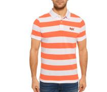 Kurzarm Poloshirt Slim Fit orange/weiß