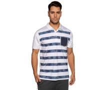 Kurzarm Funktions Poloshirt weiß/blau