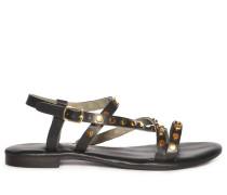 Sandalen schwarz/gold