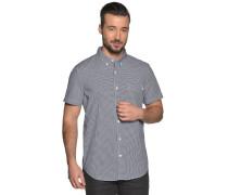Kurzarmhemd Slim Fit schwarz/weiß