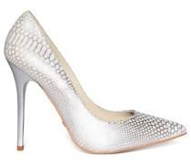 High Heels weiß/silber