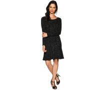 Kleid schwarz meliert