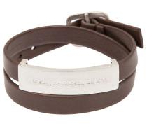 Armband taupe/silber