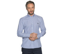 Langarm Hemd Regular Fit blau/weiß
