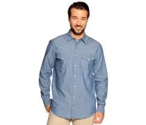 Langarm Jeanshemd Regular Fit blau