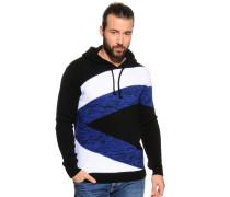 Pullover schwarz/weiß/blau