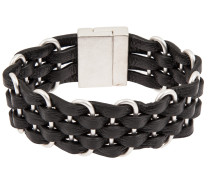 Armband schwarz/silber