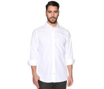 Langarm Hemd Custom Fit weiß