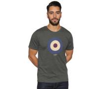 Kurzarm T-Shirt khaki meliert