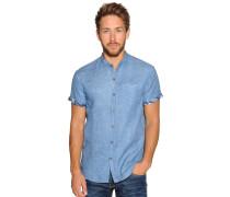 Kurzarmhemd Custom Fit blau