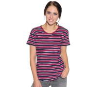Kurzarm T-Shirt bordeaux/navy gestreift