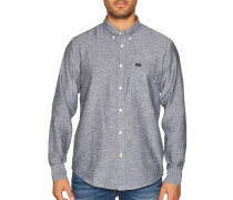 Langarm Hemd Regular Fit grau meliert