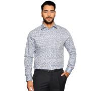 Business Hemd Custom Fit weiß/navy