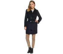 Mantel mit Kaschmiranteil schwarz