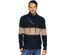 Pullover navy/anthrazit/ecru