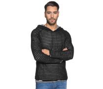 Pullover mit Leinen schwarz/weiß