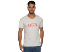 Kurzarm T-Shirt offwhite/ rot