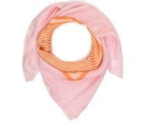 Tuch rosa/weiß/orange