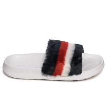 Pantoletten navy/rot/weiß