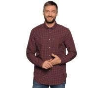 Langarm Hemd Regular Fit rot/schwarz