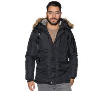 Jacke mit Kapuze schwarz