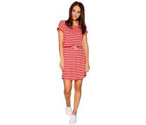 Kleid, rot/weiß