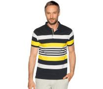 Kurzarm Poloshirt navy/weiß/gelb