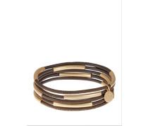 Armband 5er Set braun/gold