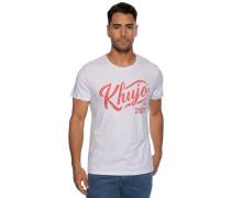 Kurzarm T-Shirt weiß/ rot
