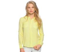 Langarm Bluse gelb